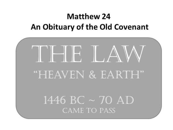 Obituary of the Old Covenant