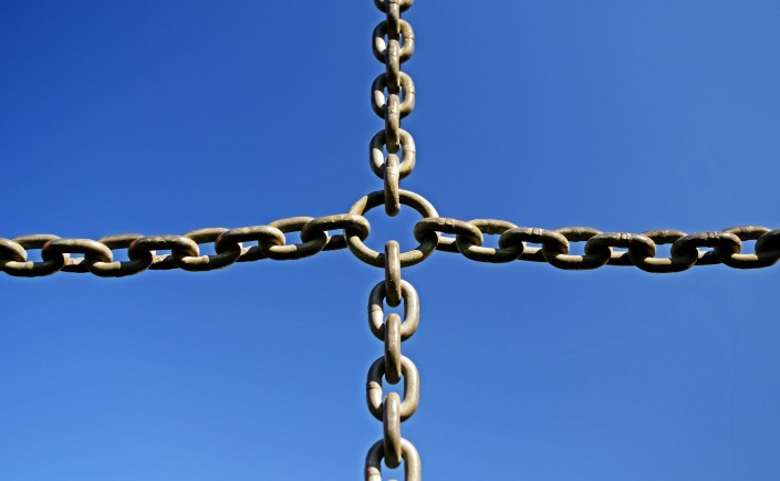 A cross made of chains